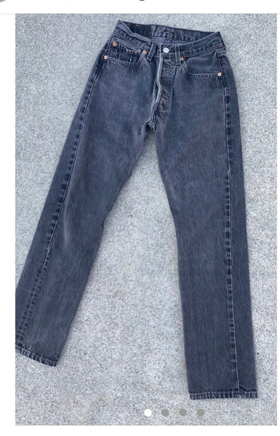 Vintage Levi jeans 501 washed black made in USA w2