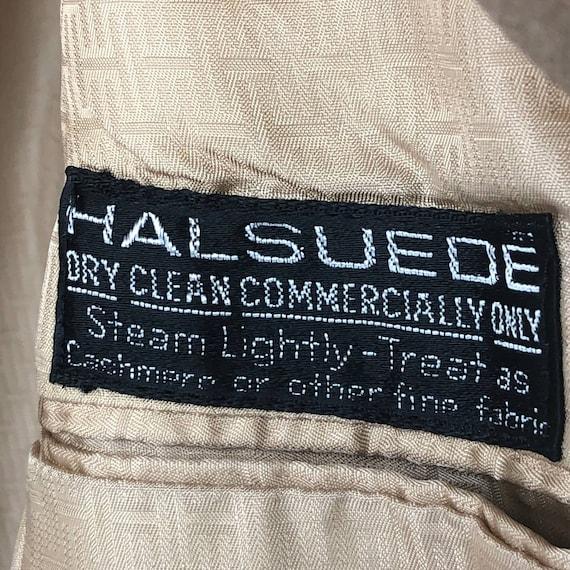 """Vintage Halston """"Halsuede"""" Ultrasuede Tan Blazer … - image 3"""