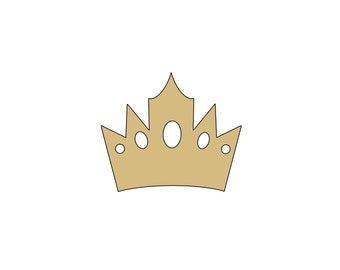 King prince crown personalized custom Cookie Cutter Pls leave text in note