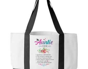 Pregnancy Announcement for Sister Pretty Beach or Shopping Bag for Auntie Personalized Best Aunt Ever Canvas Tote Gift for Favorite Aunt