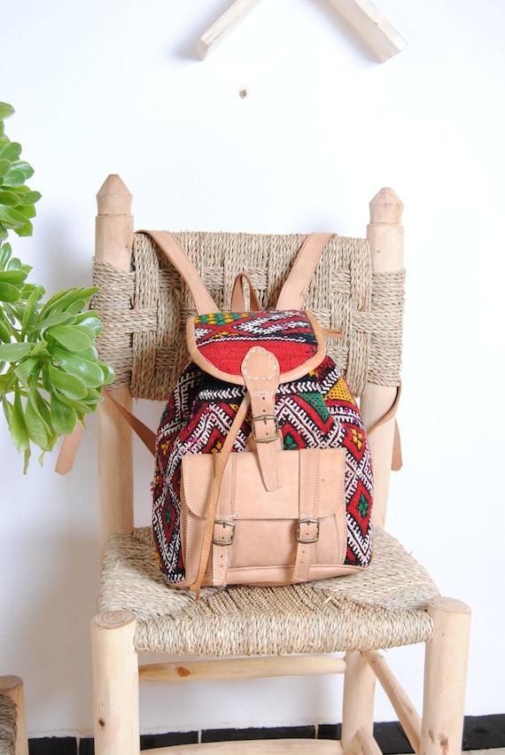 women's leather backpack, travel backpack, schoolb