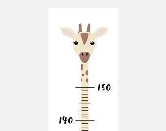 Messlatte für Kinder Giraffe | Geschenke zur Geburt | Kindermesslatte reißfest und abwischbar