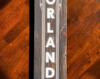 Wooden Wall Hanging Sign Orlando Magic