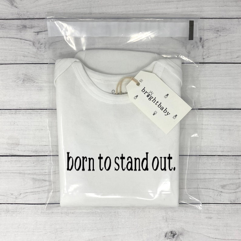 Born To Stand Out Onesie\u00ae One Of A Kind Baby Onesie Unique Baby Shower Gift Born To Be Yourself Onesie\u00ae Inspirational Custom Baby Onesie