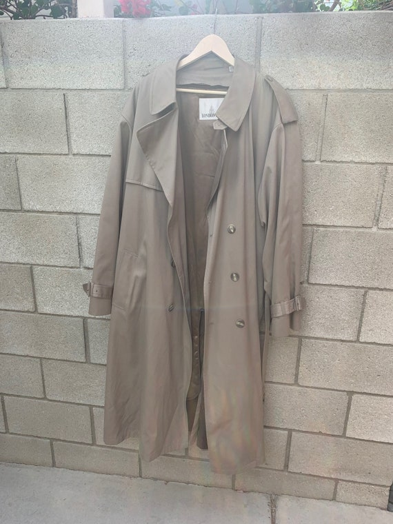 Vintage 50 Long London Fog Beige Trench Coat