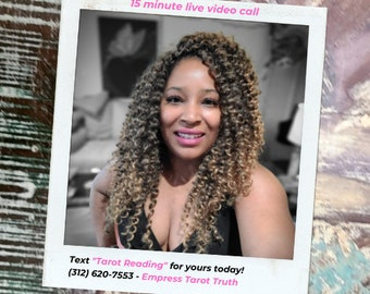 15 minute live virtual video call - Soulful & Intuitive Psychic Tarot Readings