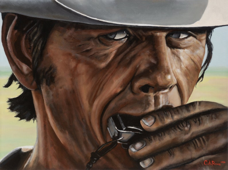Harmonica  18 x 24 inches Original Oil Painting on Canvas image 0
