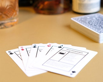 Cocktail Cards. All the cocktails you need to know, and how to make them, in one deck of quality playing cards.