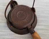Wagner Sidney, Ohio No. 1 Childs Toy Cast Iron Waffle Griddle Patented Feb 22 1910