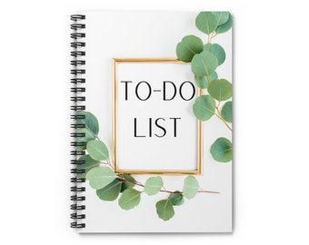To-Do List Spiral Notebook   Gift for Lawyers   Gift for Law Students   Gift for Paralegals   Gift for the Office