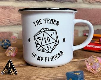 D&D Mug - Tears Of My Players | Dungeons and Dragons Inspired Mug, DnD Gift, Funny Gift For Dungeon Master, DM Mug, Dice Mug