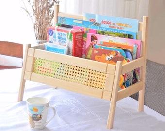 4/' Leaning Clock Bookcase Clock Shelf OOAK Bookcase nursery decor Whimsical Bookcase Kids Bookshelf Kids Bookcase Whimsical Furniture