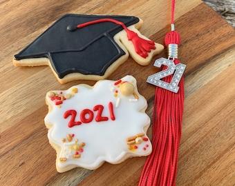 Graduation personalised gift bag novelty cookies