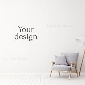 Kitchen MOCKUP styled stock photography 117 minimalist mock up Scandi interior mock up blank wall mock-up for painting room mockup