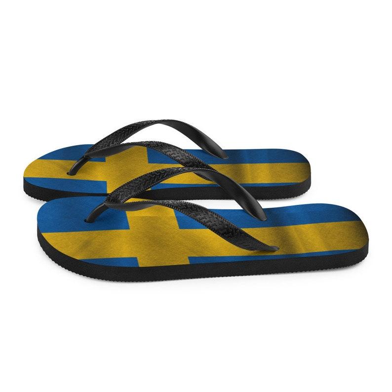 Swedish Flag Flip-Flops