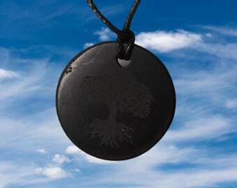 Shungite Pendant Amulet The Tree of Life Shungite Stone Shungite Crystal Elite Noble Shungite Black Shungite Russian
