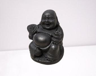 "Figurine made of Shungite ""Hotei"" EMF Protection, Shungite powder figure"