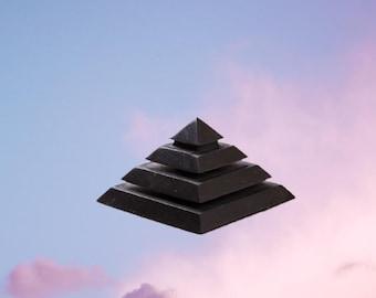 Shungite Pyramid Sakkara Polished Stone Elite Shungite Crystal Shungite Water Shungite EMF Shungite 5G Metaphysical Crystal Stone Decor