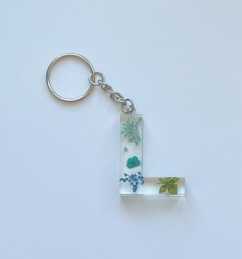 L Resin Letter Keychain
