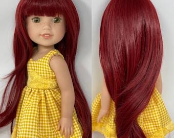 """RRFF, Wellie Wisher, 1/3 BJD size wig 8-9 """"Ruby Rondeau"""""""