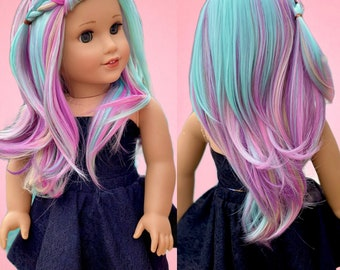 "American Girl Doll Wig ""Unicorn Mood"""