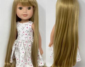 "RRFF, Wellie Wisher, 1/3 BJD size wig 8-9 ""Butterscotch Silk"""