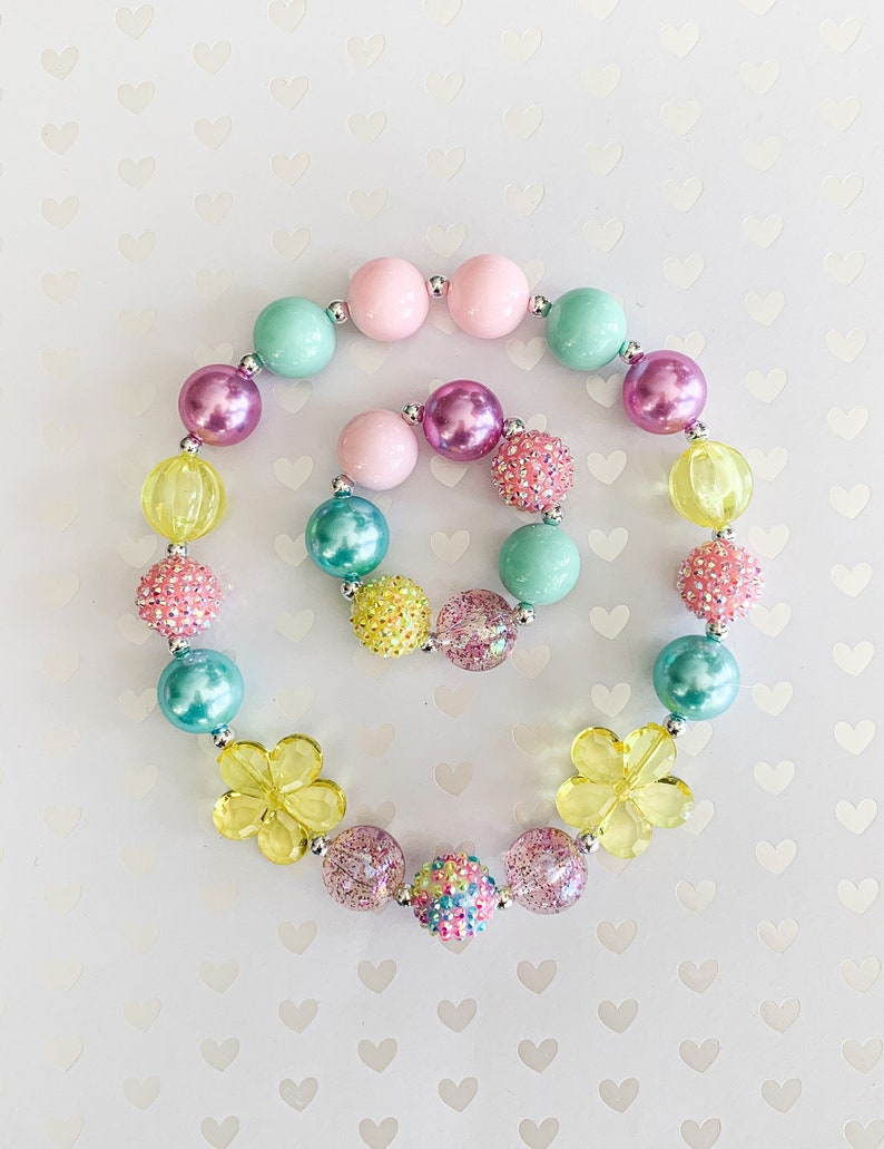 EASTER Toddler Necklace Baby Necklace Baby Bracelet Chunky Necklace Girl Necklace Baby Jewelry Kids Necklace Toddler Bracelet