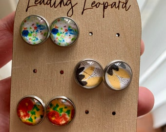 Earrings Drops 13 x 18 mm Cabochon Jewelry SCHATTENBAUM