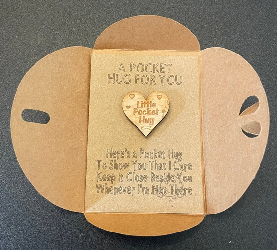 Cuddles for an amazing Friend Pocket Hug gift DD1641 Cuddle token rainbow heart design