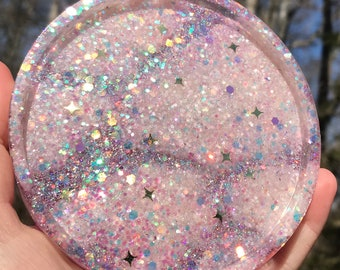 Pink Glitter Cloud Coaster