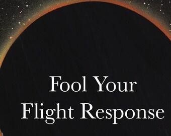 DARK MOON ECLIPSE Printable Wall Art/Fool Your Flight Response/Instant Digital Download/Inspirational Quote/Lunar Wall Art/Moon Meme