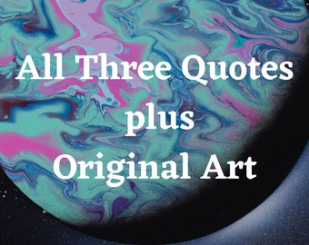 ABSTRACT EARTH ECLIPSE Printable Wall Art/All Three Quotes/Instant Digital Download/Inspirational Quote/Planet Wall Art/Earth Meme