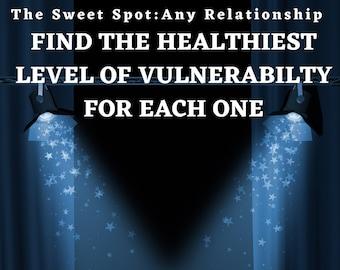 Sweet Spot Relationship journal, self care template, healthy boundaries death divorce neglect narcissistic abuse custody job loss hostility
