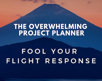 Overwhelming Project Planner Checklist, Self Care Guided Template, Procrastination Guided Journal, Getting Started Goal Worksheets
