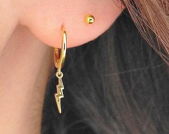 Gift for Her Modern Earrings Statement Earrings Square Hoop Earrings Simple Hoop Earrings Gold Hoop Earrings Minimalist Jewellery