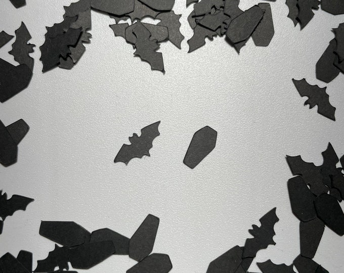 Bat And Coffin Confetti Party 0.5 oz Portion Wedding Halloween Cardstock Celebrate