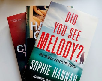 Mystery Book Subscription - Monthly Subscription or one off gift Box of Books - 3 Brand New Books - Mystery Books - Gift for book lovers!