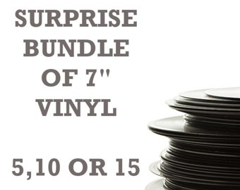 """Surprise Bundle of 7"""" Vinyl Records"""
