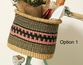 African woven bicycle basket