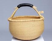 Large bolga pot basket, ghana basket, african woven basket, natural basket, fruit basket, storage basket,