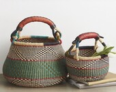 Bolga basket, african woven basket, Bolga pot basket, natural woven basket, storage basket,
