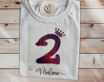 Ironing picture   Birthday   2nd birthday   Favorite font   personalized and individual