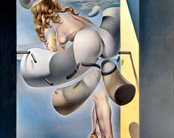 Fridge Magnet of Young Virgin Auto-Sodomized by the Horns of Her Own Chastity Salvador Dali - Autodomisierte jugendliche Frau