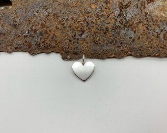 Heart pendant polished - silver 925