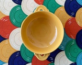 Vintage Fiesta (Fiestaware) Cream Soup Cup in YELLOW