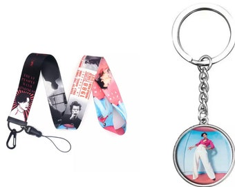 Custom keychains from Harry Styles and Louis Tomlinson resin with flowers and stainless steel ring