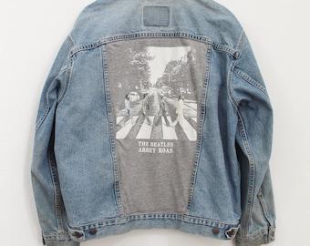 OOAK Beatles Abbey Road Upcycled Vintage Denim Vest