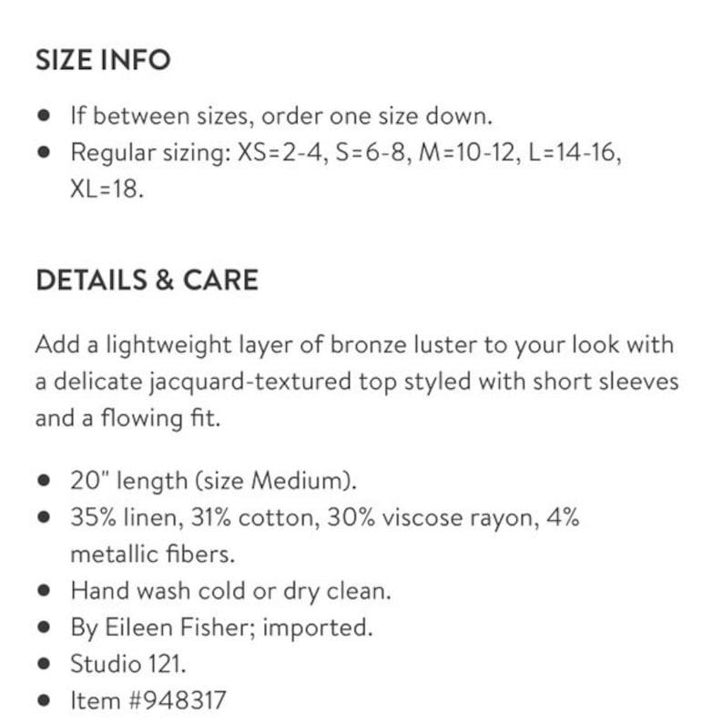 Eileen Fisher Brown Metallic Linen Poncho Sweater