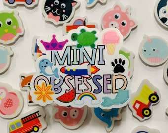 Mini Obsessed Speech Therapy Sticker