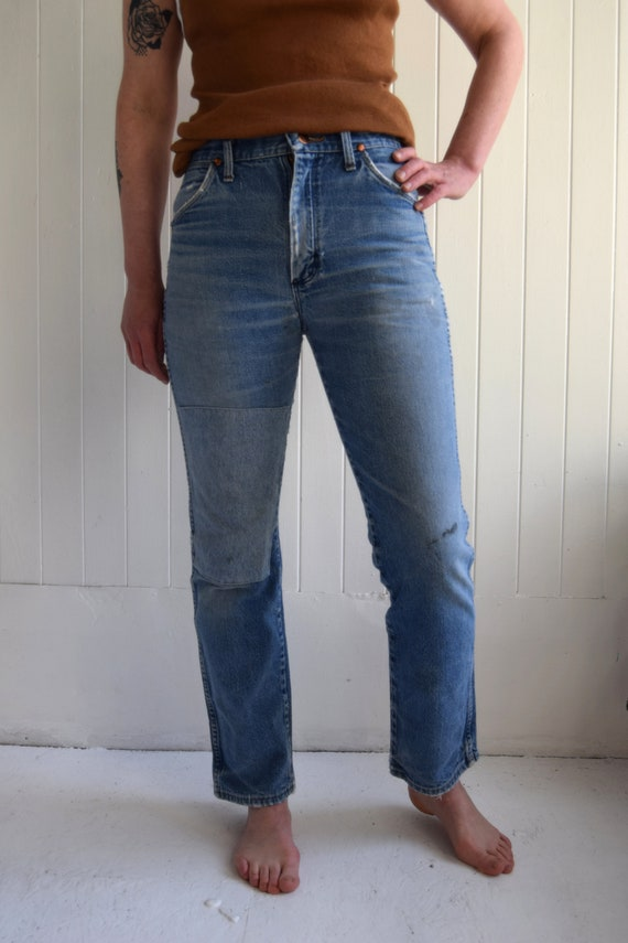 Vintage Made in USA Patchwork Wrangler Jeans